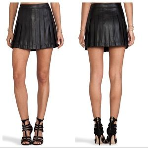 NEW BCBGMaxAzria Pleated Faux Leather Skirt.
